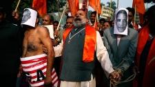 Protesting Devyani Khobragade arrest in New Delhi