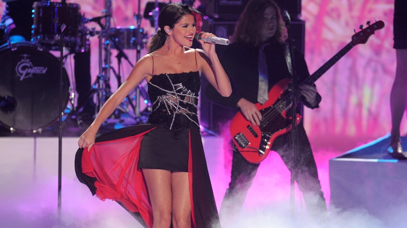 Selena Gomez performs at the Teen Choice Awards in Universal City, Calif., Sunday, Aug. 7, 2011. (AP / Chris Pizzello)