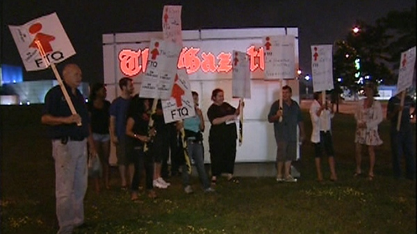 Several dozen Gazette employees found out Sunday night they had been locked out. (August 7, 2011)