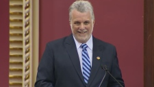 Philippe Couillard is sworn in aPhilippe Couillard