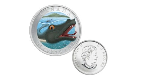 2011 coloured 25-cent - Canadian Mythical Creatures - Memphre.