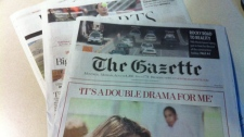 The Montreal Gazette on Monday August 8, 2011. 100 employees were locked out on Sunday evening.