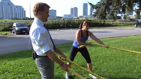 Battling Ropes is a training system that was developed by John Brookfield.