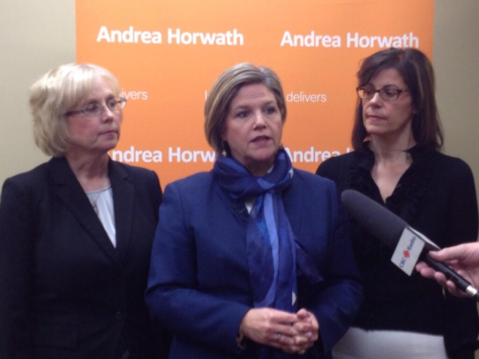 Andrea Horwath, Peggy Sattler, Teresa Armstrong