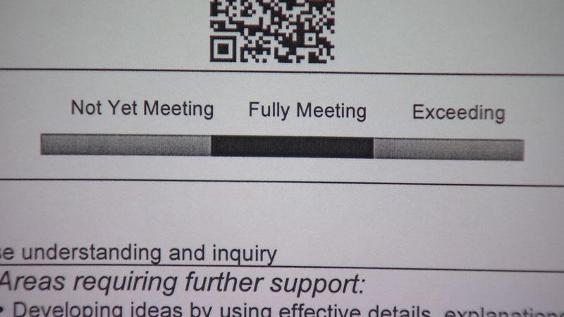 A handful of Surrey elementary schools have let go of letter grades in favour of more descriptive feedback. Dec. 19, 2013. (CTV)