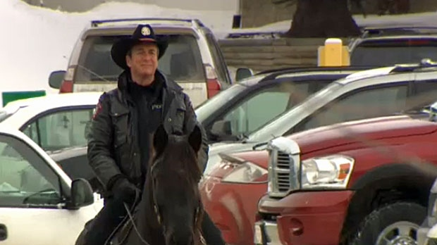 Police Saddle Up To Patrol Mall Parking Lots In Calgary