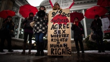 Sex workers rights rally in Toronto