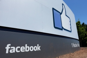 A sign at Facebook's headquarters in Menlo Park, Calif. is shown on Tuesday, July 16, 2013. (AP / Ben Margot)