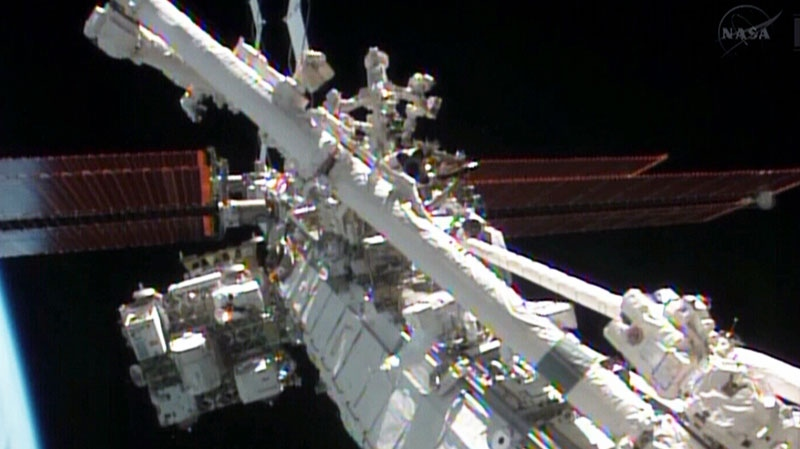 NASA astronauts complete first spacewalk to repair ...