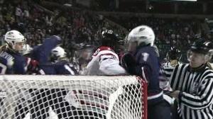 Women's Hockey Brawl: Team Canada and U.S. square