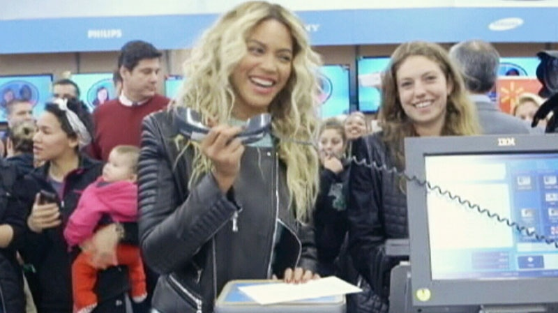 Beyoncé stunned fans during visit to Boston-area Wal-Mart on Dec. 20, 2013.