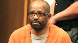 Anthony Sowell sits in the courtroom before the jury recommended the death penalty for him in Cleveland, Wednesday, Aug. 10, 2011. (AP / The Plain Dealer, Marvin Fong)