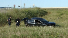 A woman was killed following a crash on Highway 401 near Woodstock, Ont. on Thursday, Aug. 11, 2011.