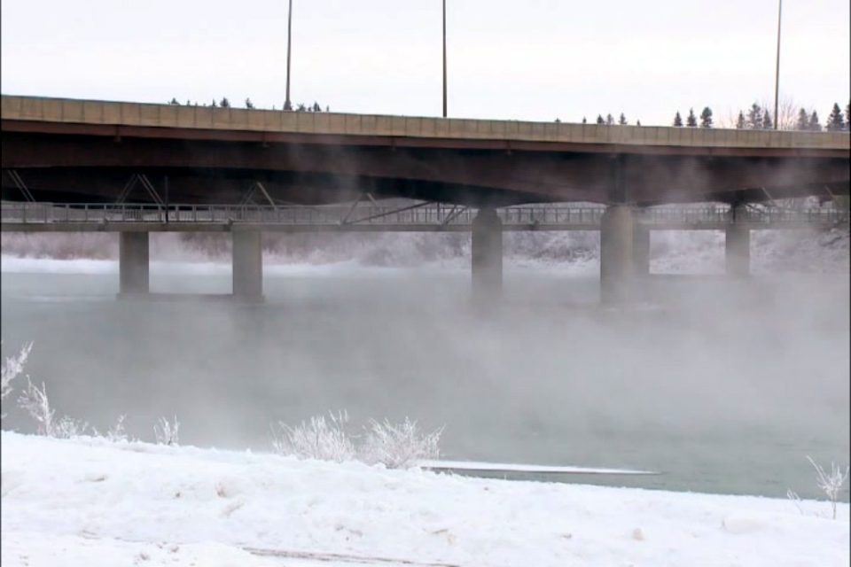 The Circle Drive North Bridge, like all bridges in the city, are in the middle of perfect conditions for slick roads.