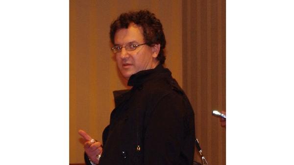A photo of Dennis Markuze/ David Mabus taken at the Atheist Alliance International meeting in Montreal, Oct. 2010