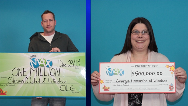 Windsor's two big lottery winners cash their tickets | CTV News Windsor