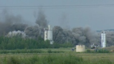 The Wabamun power plant went up in a huge cloud of smoke on Thursday, Aug. 11, 2011.