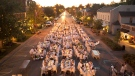 Niagara-on-the-Lake's Diner en Blanc held in the town's Heritage District on Aug. 11, 2011.
