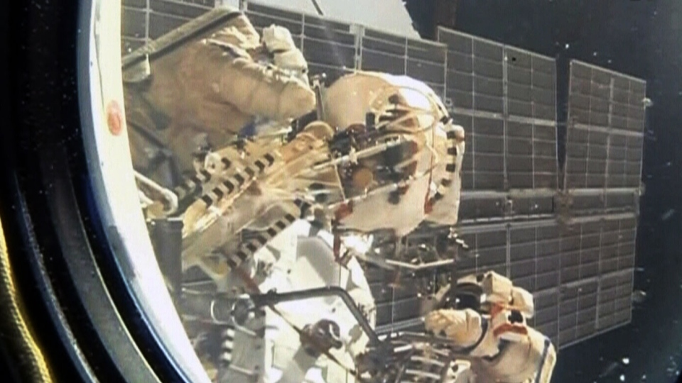 Two Russian cosmonauts venture outside ISS
