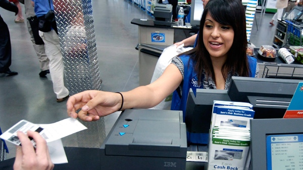 Consumers may soon have the choice of forgoing a printed receipt at the check-out counter, as an increasing number of retailers cut ties with the tiny slips of paper that have been issued to customers for decades. (AP / April L. Brown)