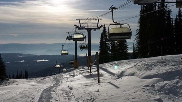 A chairlift is seen in this Instagram photo of Sun Peaks Resort near Kamloops, B.C. (Instagram/@SunPeaksResort)
