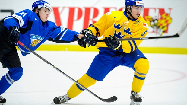 Finland and Sweden in action in Malmo, Sweden
