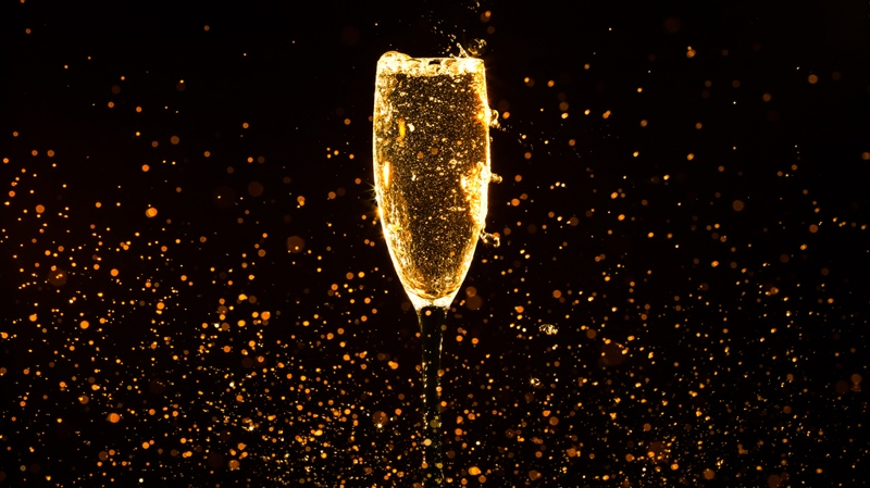 Your Christmas party might still include Champagne -- but you'll toast over Zoom (Volodymyr Goinyk / shutterstock.com)