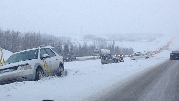 Drivers advised to steer clear of Anthony Henday south