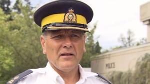 RCMP Insp. Randall Marquardt speaks to CTV News on Saturday, Aug. 13, 2011.