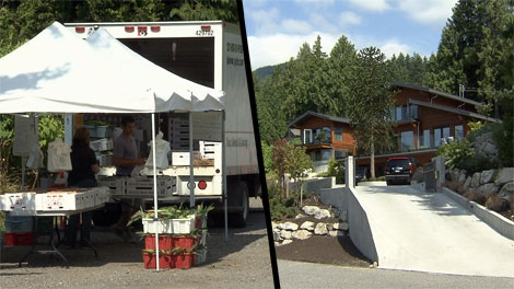 A West Vancouver man claims he's having trouble selling his mansion because of a fruit stand located just down the road from his driveway. Aug. 13, 2011. (CTV)