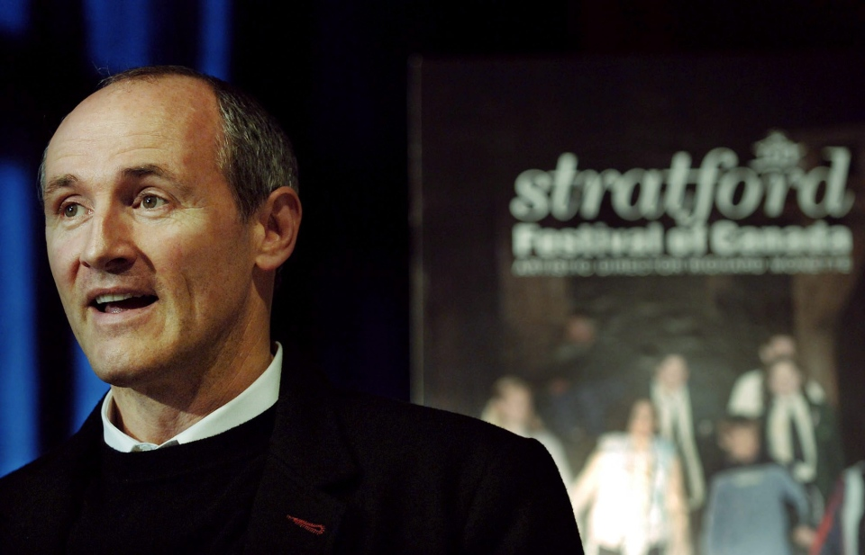 Actor Colm Feore speaks during a press conference for the Stratford Festival in Toronto, Tuesday, April 18, 2006. (Aaron Harris / THE CANADIAN PRESS)