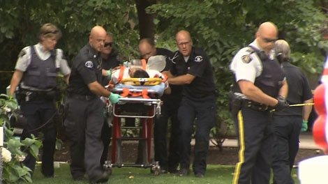 Six people were injured after a shooting outside the Lake City Casino in Kelowna, B.C. on Sunday, August 14, 2011. (CTV)