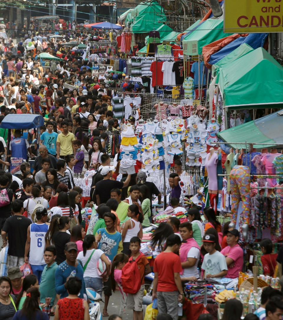 Manila's commercial district of Divisoria