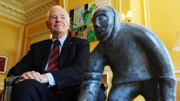 Gov. Gen. David Johnston takes part in an interview at Rideau Hall in Ottawa, on Friday, Aug.12, 2011. (Sean Kilpatrick / THE CANADIAN PRESS)