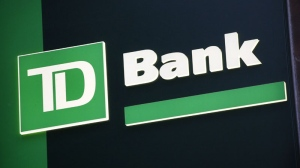 In this Nov. 12, 2010 file photo, a sign for TD Bank is shown in New York. (AP Photo/Mark Lennihan, file)