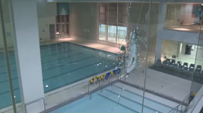 Woolwich memorial centre vandalized ctv kitchener news for Waterloo rec centre swimming pool