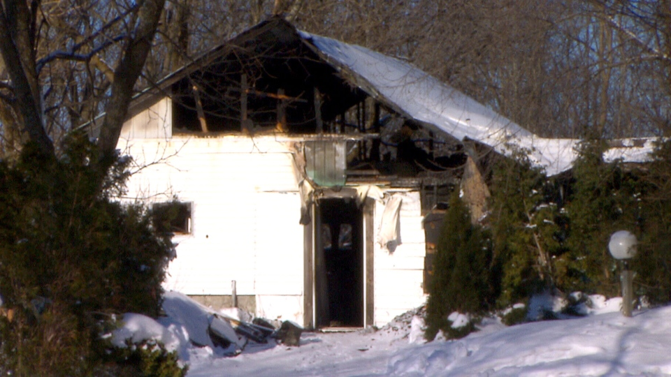 A fire at a kennel claimed the lives of 18 dogs in Saint-Lazare, Que., Saturday, Dec. 28, 2013.