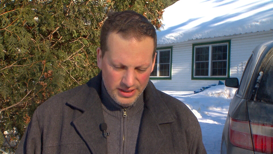 Nick Zevgolis, owner of the kennel where 18 dogs were killed in a fire on Dec. 28, 2013, speaks to CTV News from Saint-Lazare, Que., Wednesday, Jan. 1, 2014.