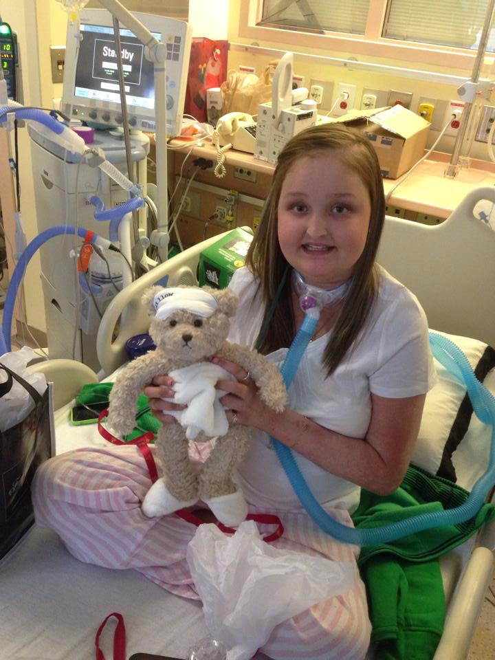 Kayla Baker is seen in December 2013 in this photo taken from the 'Kayla Needs New Lungs' Facebook page.