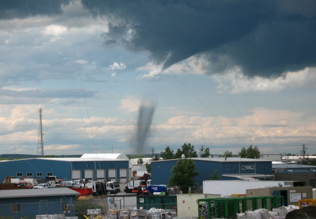 Funnel clouds