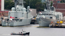 Ships rest at berth at Maritime Forces Dockyard in Halifax on Monday, Aug. 15, 2011. (Andrew Vaughan / THE CANADIAN PRESS)