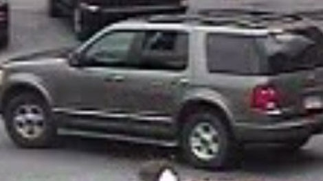A surveillance image shows a Ford Explorer considered a vehicle of interest in a shooting at the Delta Grand hotel in Kelowna. (Handout)