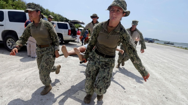 Women in combat training