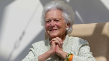 Barbara Bush in Aug. 2013
