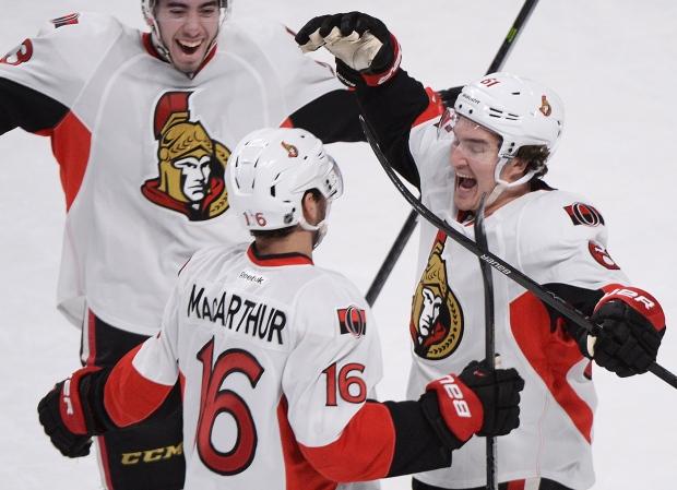 Ottawa Senators' Clarke MacArthur