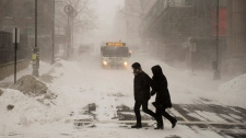 Winter weather hits Canada