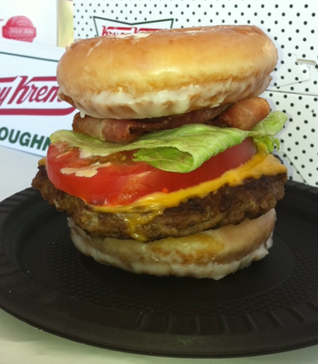 Krispy Kreme doughnut cheeseburger is the latest in a series of gastronomically-shocking fare for which the CNE has become notorious.