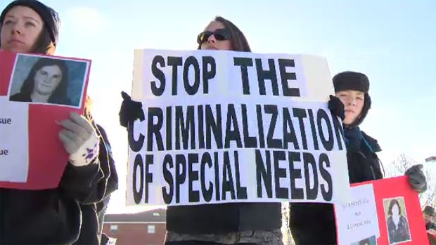 Dozens of Nova Scotians held peaceful demonstrations across the province on Sunday in support of Nichele Benn, a young woman with an intellectual disability who is facing criminal charges. (CTV Atlantic)