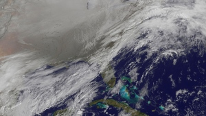 Polar vortex over northern U.S.