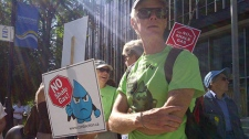 fracking, protest